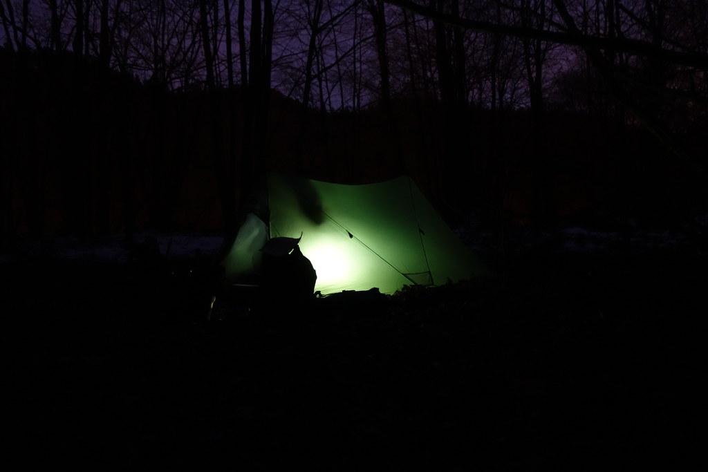 Zelt mit Innenbeleuchtung