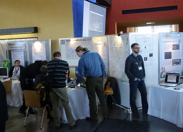 OSM-Stand auf den Chemnitzer Linuxtagen 2013